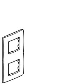 672532 Legrand Etika рамка 2 пост красный