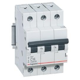 Автоматический выключатель 1-полюсный Legrand TX3 25A 3Р 6кА тип «C»