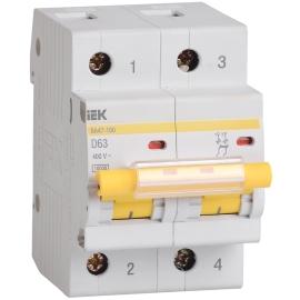 Автоматический выключатель ВА 47-100 2Р 16А 10 кА характеристика C ИЭК