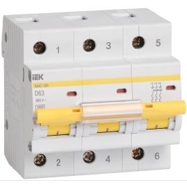 Автоматический выключатель ВА 47-100 3Р 40А 10 кА характеристика C ИЭК