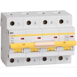 Автоматический выключатель ВА 47-100 4Р 50А 10 кА характеристика C ИЭК