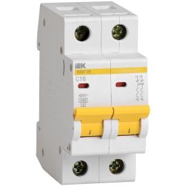 Автоматический выключатель ВА47-29 2P 16A 4.5кА характеристика C ИЭК