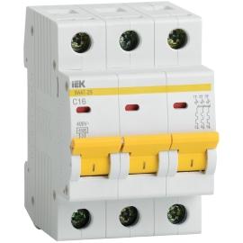 Автоматический выключатель ВА47-29 3P 10A 4.5кА характеристика C ИЭК