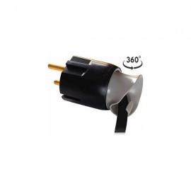 Вилка Legrand 2К+З 16A Черная (50173)