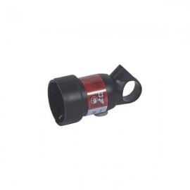 50195 Розетка с заземлением 2К+З с кольцом черная