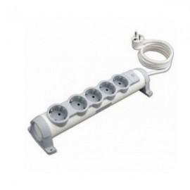 Legrand Комфорт Удлинитель 5 розеток с заземляющим контактом со шторками, поворотный блок с фиксацией, выключатель с индикацией, кабель питания 3 м.