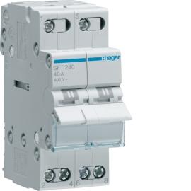 SFT240 Переключатель I-0-IIз общим выходом сверху 2 пол.40А / 400В, 3м,