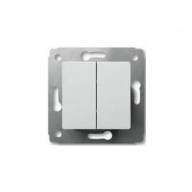 Выключатель 2-кл. Legrand Cariva белый 773605