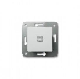 Выключатель 1-кл. с подсветкой Legrand Cariva белый 773610