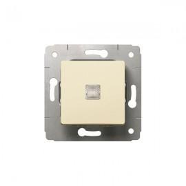 Кнопка 1-кл. с подсветкой Legrand Cariva слоновая кость 773711