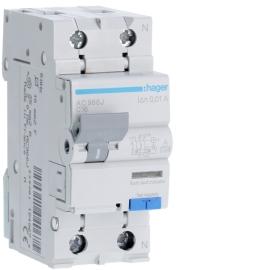 Дифференциальный автоматический выключатель Hager AC966J 1P + N 6kA C-16A 10mA A