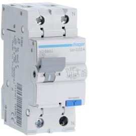 AD860J Дифференциальный автоматический выключатель 1 + N, 10A, 30 mA, С, 4,5 КА, AC, 2м