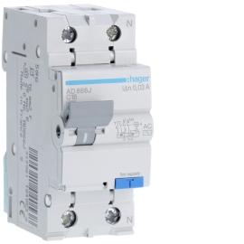 AD866J Дифференциальный автоматический выключатель 1 + N, 16A, 30 mA, С, 4,5 КА, AC, 2м