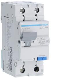 Дифференциальный автоматический выключатель Hager AD882J 1+N, 32A, 30 mA, С, 4,5 КА, AC, 2м