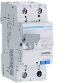 AD975J Дифференциальный автоматический выключатель 1 + N, 25A, 30 mA, С, 6 КА, AC, 2м
