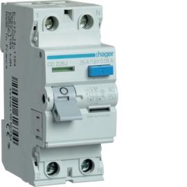 Устройство защитного отключения (УЗО) Hager CD226J 2x25A, 30 mA, AC, 2м