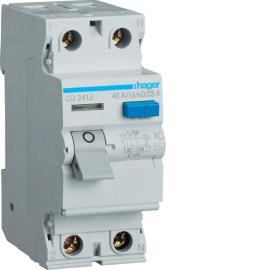 Устройство защитного отключения (УЗО) Hager CD241J 2x40A, 30 mA, AC, 2м
