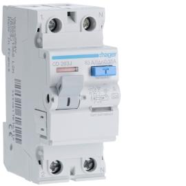 Устройство защитного отключения (УЗО) Hager CD263J 2x63A, 30 mA, A, 2м
