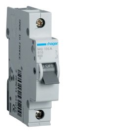 MB120A Автоматический выключатель In = 20А, 1п, В, 6 kA, 1м