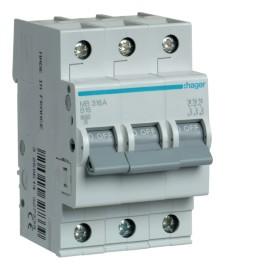MB350A Автоматический выключатель In = 50A, 3п, В, 6kA, 3м