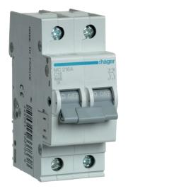 MC216A Автоматический выключатель 2р, 16А, С