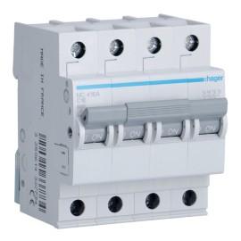 Автоматический выключатель Hager MC463A In= 63А, 4п, C, 6 kA, 4м
