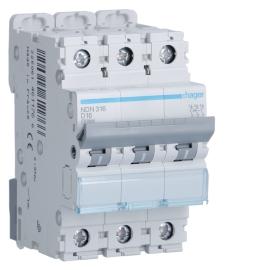 Автоматический выключатель Hager NDN320 In= 20A,3п, D, 6 kA, 3м