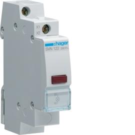 Индикатор LED Hager SVN122 230В, красный, 1м