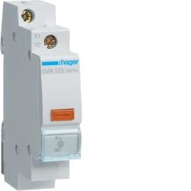 Индикатор  LED Hager SVN123 230В, желтый, 1м
