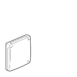 672550  Legrand Etika Рамка 1 пост с крышкой IP44 влагозащищенная белый