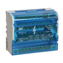 Шины на DIN-рейку в корпусе (кросс-модуль) ШНК 2х7 L+PEN ИЭК