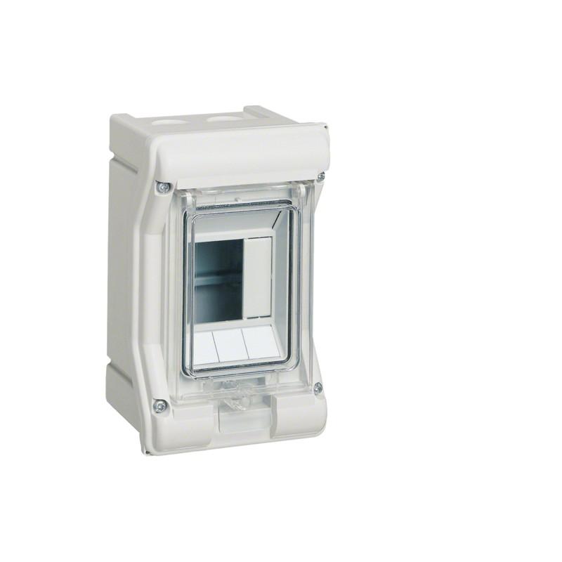 Щит распределительный на 3 модуля, н/у с прозрачной дверцей Hager VECTOR VE103D, IP65